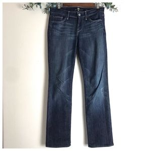 7 For All Mankind Straight Leg Dark Wash Jeans